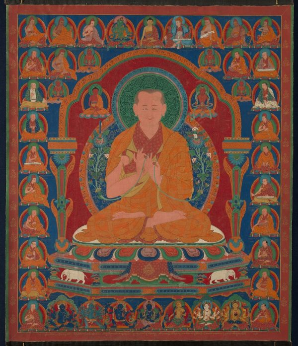 Gorampa Sonam Senge (1429-1489), Sixth Abbot of the Ngor Monastery, about 1600, central Tibet, opaque watercolor on cloth; Virginia Museum of Fine Arts, Berthe and John Ford Collection, Arthur and Margaret Glasgow Fund. Photograph © Virginia Museum of Fine Arts, photo by David Stover.