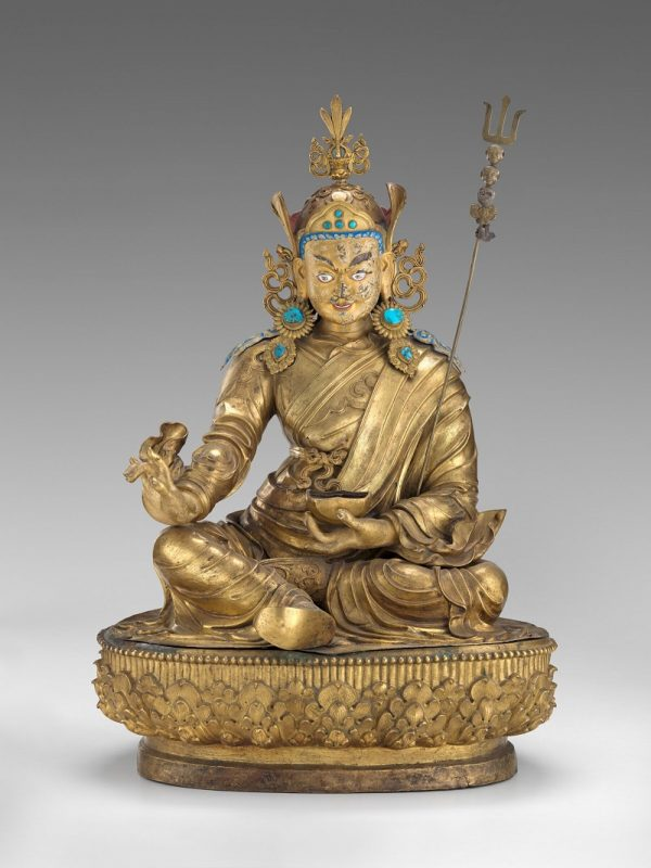 Padmasambhava, 1700-1800, central Tibet, copper alloy, gemstones, and traces of paint; Virginia Museum of Fine Arts, Berthe and John Ford Collection, gift of the E. Rhodes and Leona B. Carpenter Foundation. Photograph © Virginia Museum of Fine Arts, photo by Travis Fullerton.
