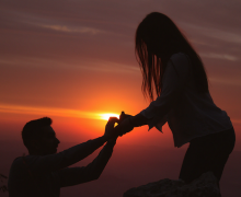 Proposal silhouette. Photo by Ani Kolleshi via Unsplash.