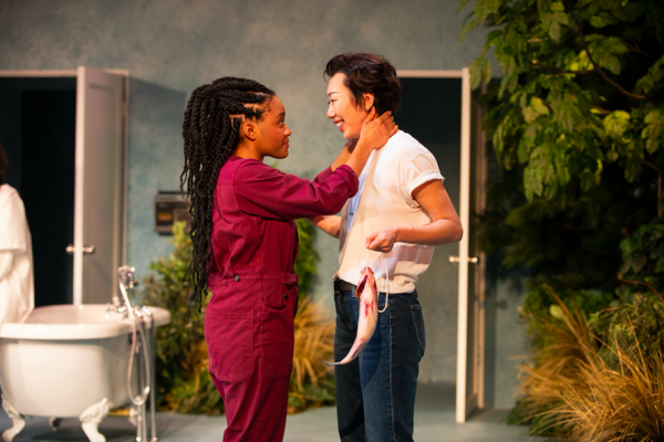 Gabby Beans and Jo Mei in Anatomy of a Suicide. Credit: Ahron R. Foster