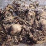 Leonardo's Battle of Anghiari as painted by Peter Paul Rubens