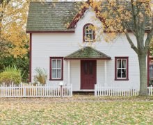 Home on an autumn day. Photo by Scott Webb via Unsplash.