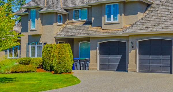 Home with great garage doors
