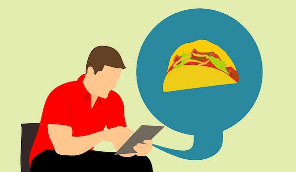 Food app order. Image via Pixabay.