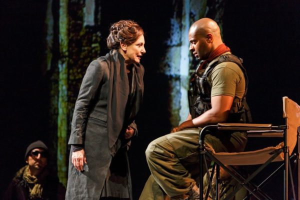 Lucy Peacock and Andre Sillis in Coriolanus from the Stratford Festival. Credit: David Hou