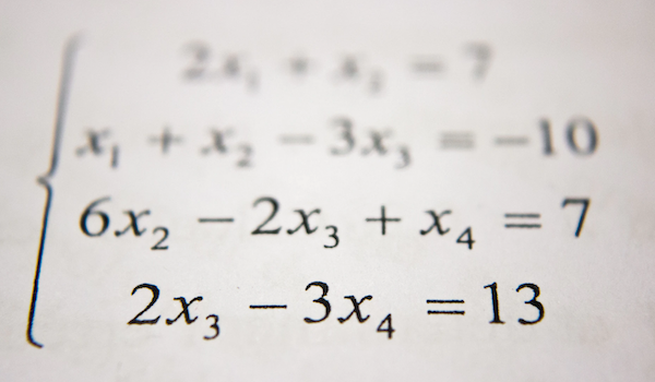Math equations. Photo by Antoine Dautry via Unsplash.