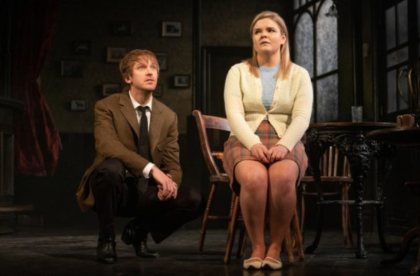 Hangmen, with Dan Stevens and Gaby French, was the first Broadway casualty of the COVID-19 crisis. Credit: Joan Marcus
