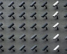 cameras on a wall security