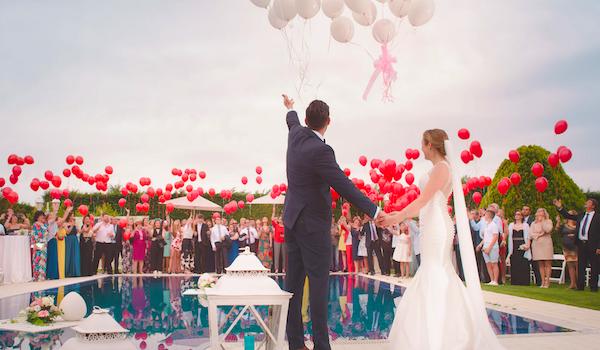 Wedding with balloons