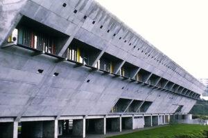 Firminy - Maison de la Culture, 1965. Architect: Le Corbusier