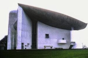Ronchamp -Chapelle Notre-Dame du Haut, 1955. Architect: Le Corbusier