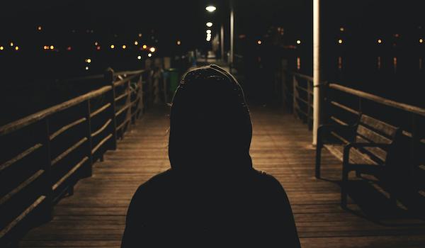Stranger on the pier