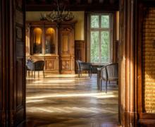 Wood floor room