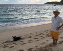 Mark Statman and his dog ApolloApollo