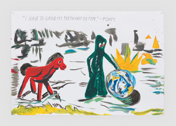 No Title (I have to) 2019 Acrylic, ink, graphite, and colored pencil on paper 30 1/4 x 44 1/4 inches (76.8 x 112.4 cm) © Raymond Pettibon, Courtesy Regen Projects, Los Angeles