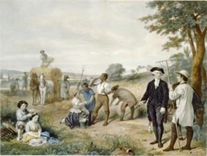 Washington on his plantation