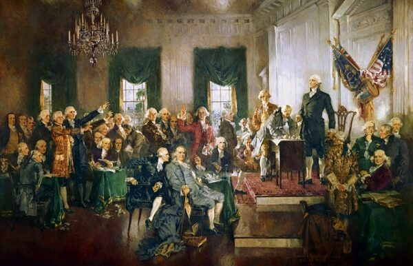 Washington presides over Constitutional Convention