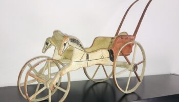 Antique doll carriage, 1877