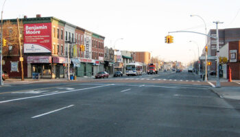 Image of an intersection in Midwood Brooklyn.